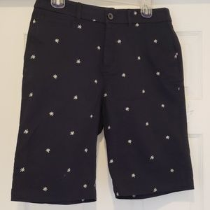 NWT Croft & Barrow Navy Blue w/Daisy's Shorts